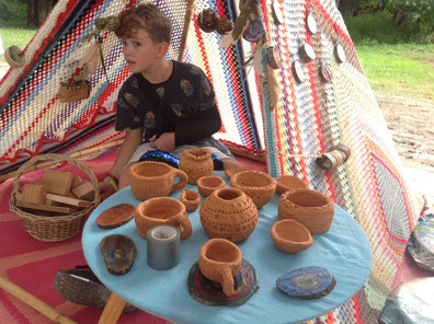 The Planting festival. Wood fordia. Wild Art