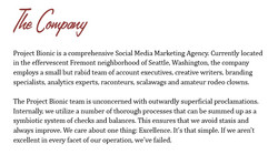 The Company:
