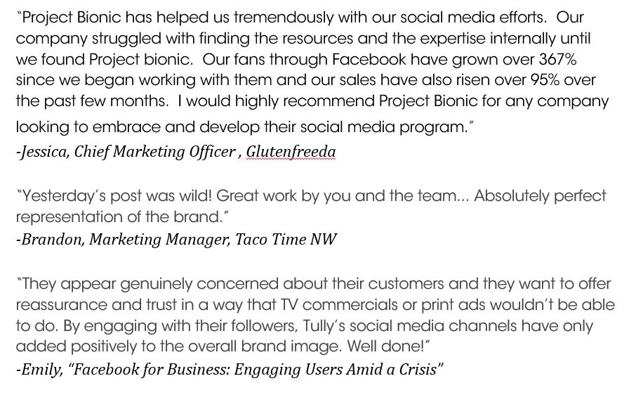 What Clients Say: