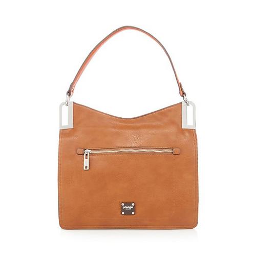 Principles Tan Metal Shoulder Bag
