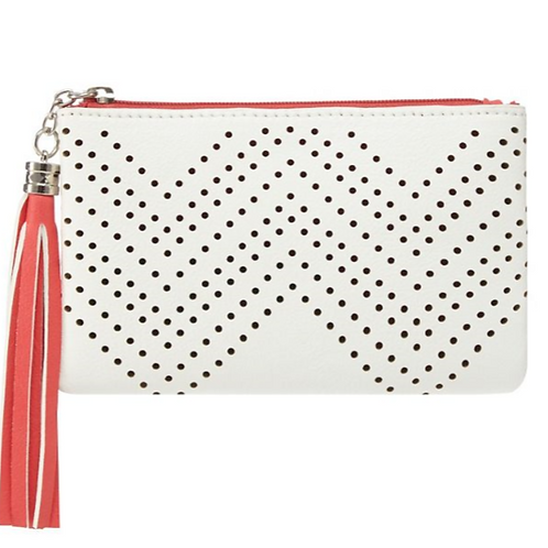 White Perforated Coin Purse