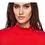 Thumbnail: Red Herring - Cerise Mini Frill Rollneck