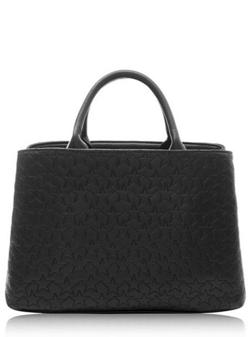 Black Cherrybrook Star Quilt Handbag