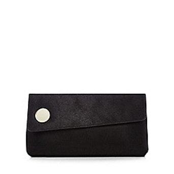 J by Jasper Conran Black Leather Clutch Bag