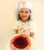 Wow! Increíble Cheesecake decorado todo por Victoria.