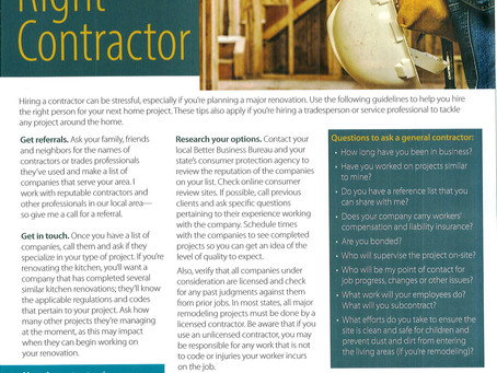 Hire The Right Contractor
