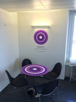 Décoration mur + table Philip Morris