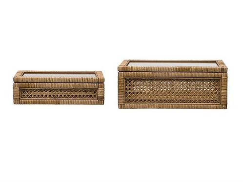 Woven Rattan Box Set