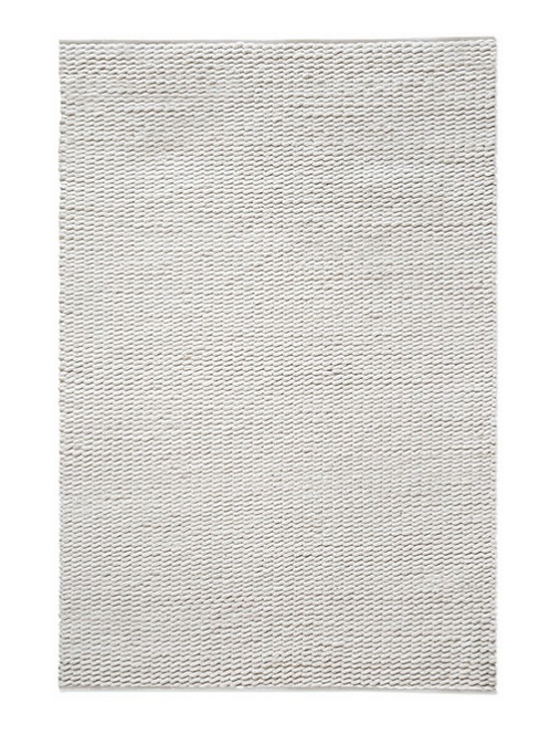 Hand Woven Wool Rug, Ivory