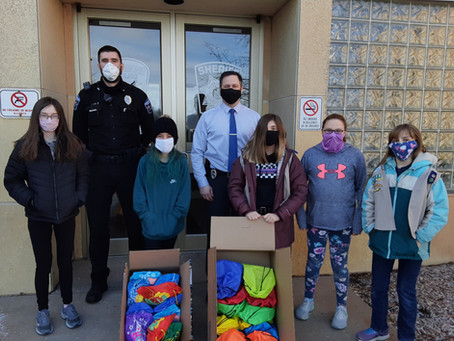 Girl Scout Troop Makes Comfort Bags for the MPD