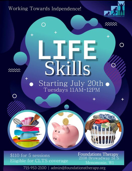 Life Skills Class at Foundations Therapy