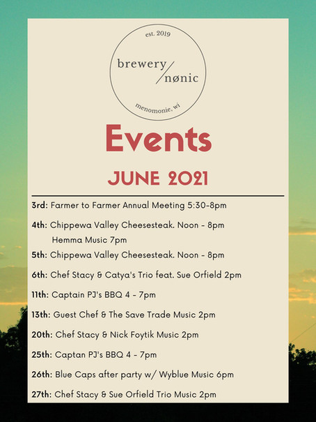 brewery nonic June Events