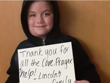 Local Boy Diagnosed with Cancer - GoFundMe Established to Help Family