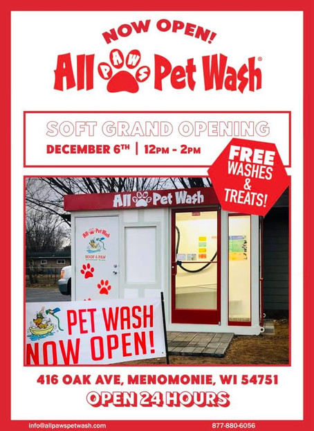 New Pet Wash Open at Hoof and Paw Vet Clinic