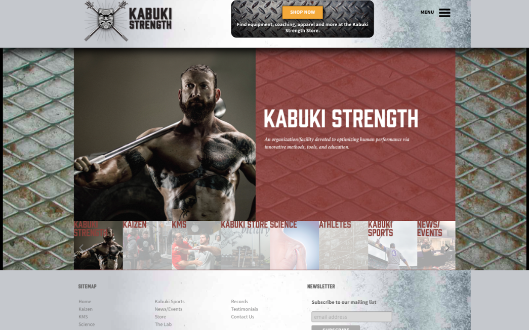 Kabuki Strength Website