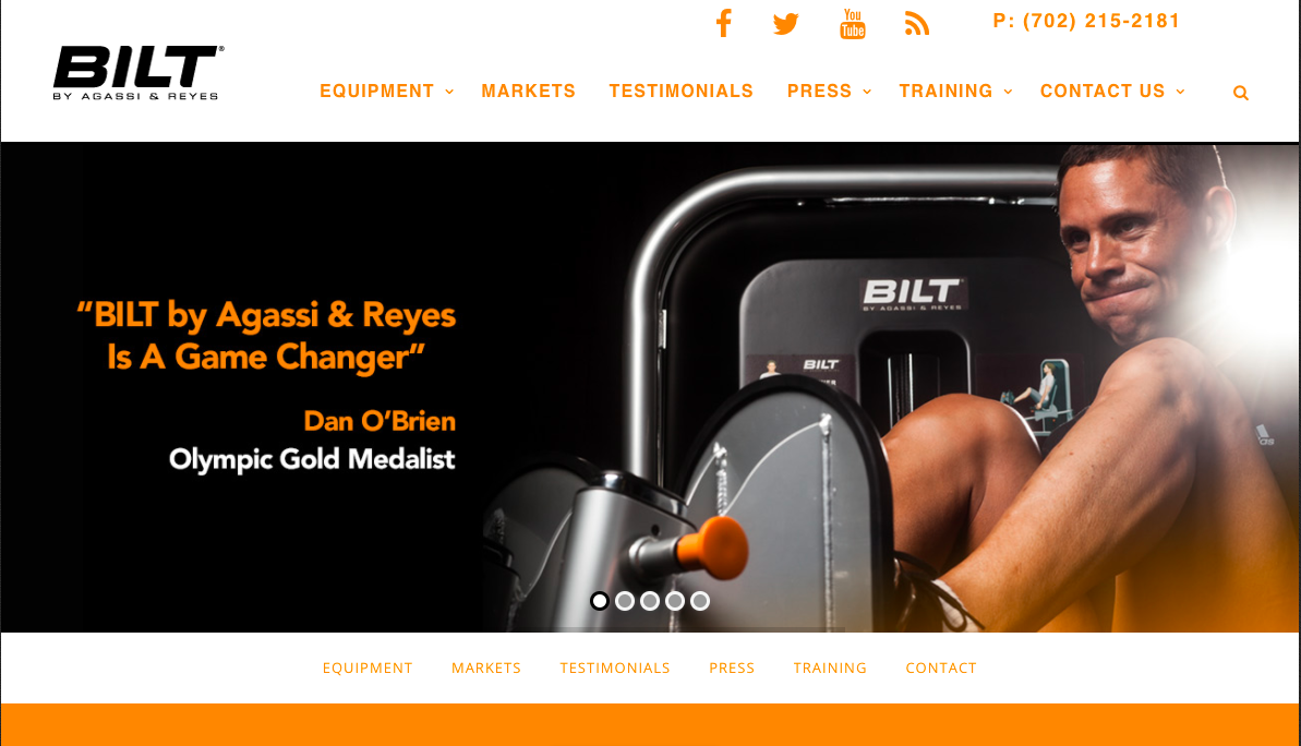 BILT by Agassi and Reyes Website