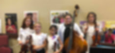 members of honor orchestra from Ventana Vista