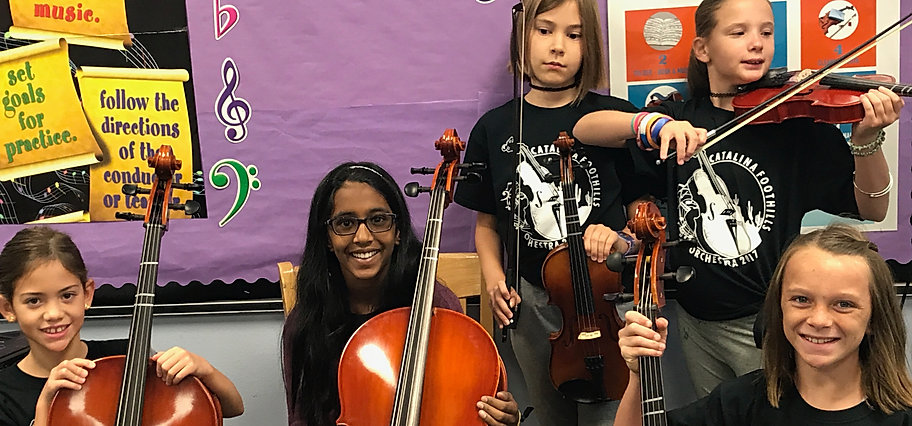 Canyon View Orchestra Students