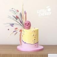 Pastel Skull Cake