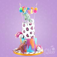 Dinosaur Disco Wedding Cake