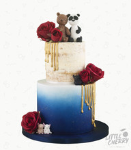 Grizzly and Panda Bear Cake