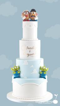 Toy Story Wedding Cake Mr & Mrs Potato