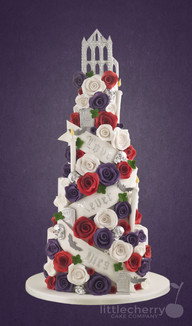 Whitby Abbey Wedding Cake 4 Tier