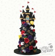 Gothic Mario Castle Wedding Cake