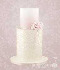 2 Tier Glitter Wedding Cake