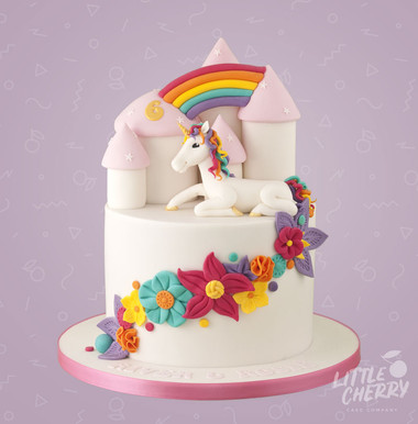 Rainbow Unicorn Castle