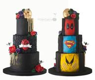 Gothic Superhero Wedding Cake