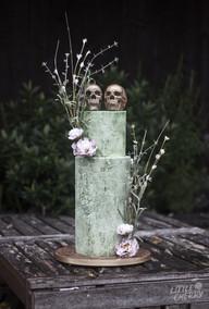 Zombie Skin Wedding Cake