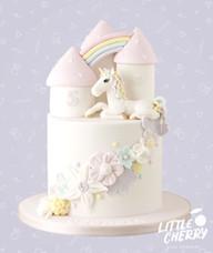 Pastel Unicorn Castle Cake