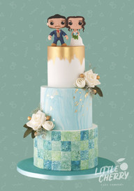 Victoria Baths Tiled Wedding Cake