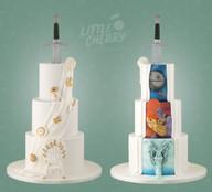 Hidden Back Geek Wedding Cake