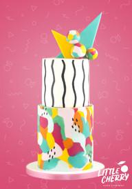 80's Memphis Style Wedding Cake