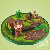 Lion King Timon and Pumbaa Cake