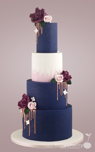 Navy and Rose Gold Wedding