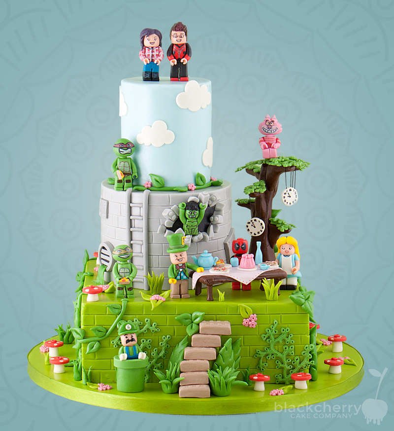 Castle Wedding Cake.Little Cherry Cake Company Wedding Cakes