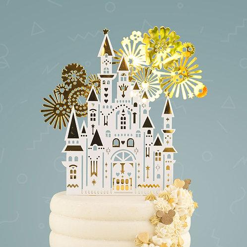 Disney-Style Castle Cake Topper Set