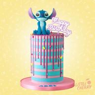 Disney Stitch Striped Cake