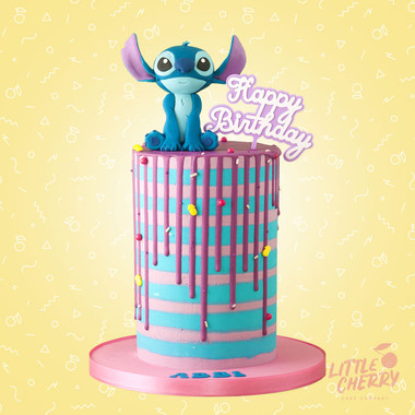 Disney Stitch Striped Cake