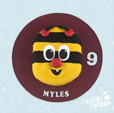 Bertie Bee Burnley Mascot Cake