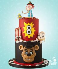 Five Nights At Freddys and FGTeeV Cake
