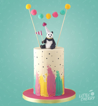Party Panda Birthday Cake