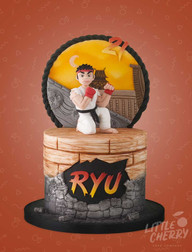 Ryu Street Fighter Cake