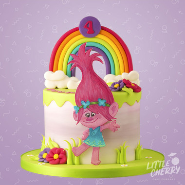Poppy From Trolls Cake