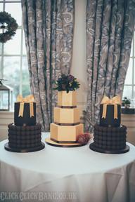 Gold Truffle Trio of Wedding Cakes
