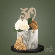 Marble Gold Bee Cake