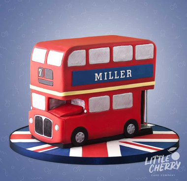 London Double Decker Bus Cake